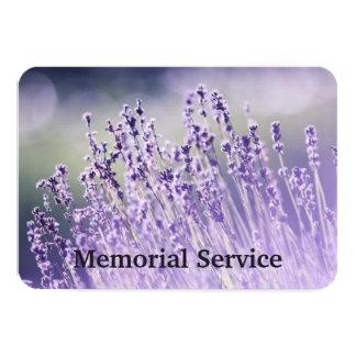 Custom Photo Memorial Service Invite Lavender