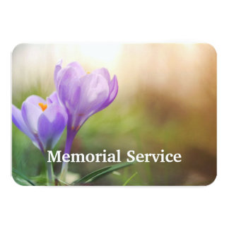 Custom Photo Memorial Service Invite Mauve Flower