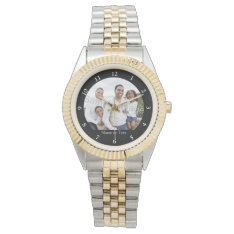 Custom Photo Men's Watch at Zazzle