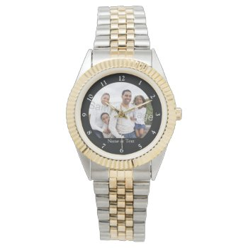 Custom Photo Men's Watch by cutencomfy at Zazzle