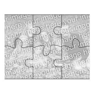 "Custom Photo ""Mock"" Puzzle Post Card - 6 pieces"