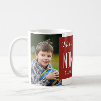 Custom Photo Mom & Dad Christmas Mug Red