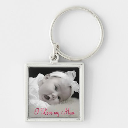 Custom Photo, Mom, Mother's Day Keychain