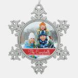 Custom Photo Monogram Holiday Ornament