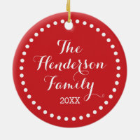 Custom Photo Monogram Holiday Ornament