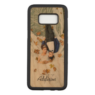 Custom Photo | Monogram & Name Carved Samsung Galaxy S8 Case
