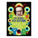 Custom Photo Monster Birthday Party Invitations