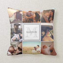 Custom Photo Montage Throw Pillow