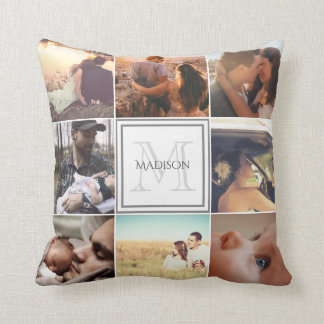 Custom Photo Montage Throw Pillow