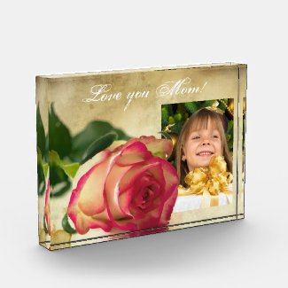 Custom Photo, Mothers Day Acrylic Gift Photo Block