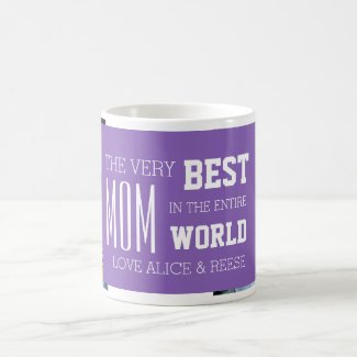 Custom Photo Mother's Day Mug Purple