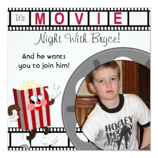 Custom Photo Movie Night Birthday Invitation