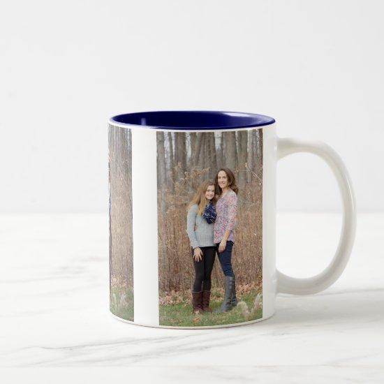 Custom photo mug - persoanlize 3 vertical photos
