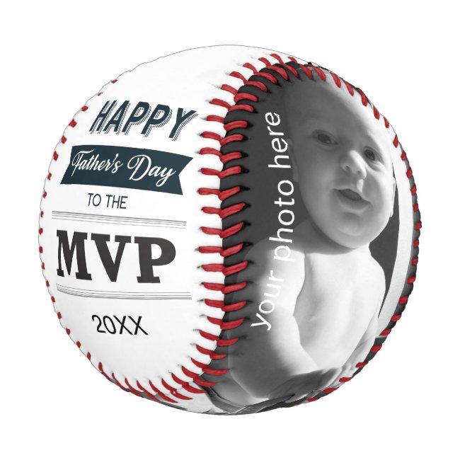 Custom Photo MVP of Father's Day Baseball