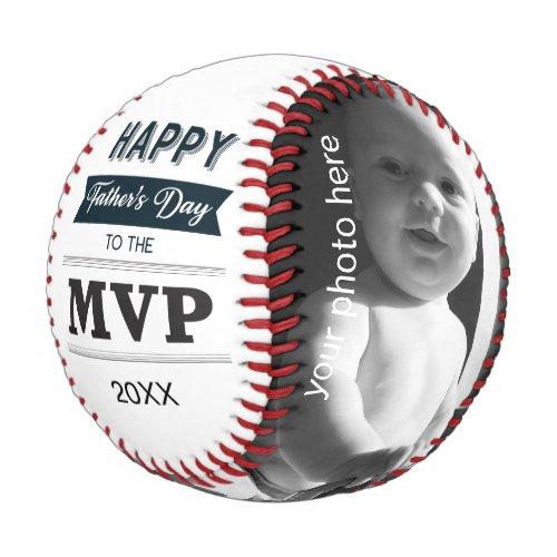 Custom Photo MVP of Fathers Day Baseball