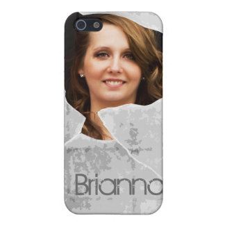 Custom Photo & Name Broken Glass  Case For iPhone 5