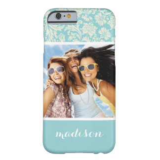 Custom Photo & Name Damask Pattern 3 Barely There iPhone 6 Case