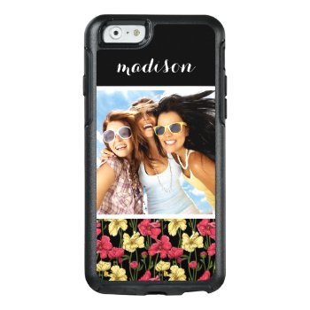 Custom Photo & Name Elegant Floral Pattern 2 Otterbox Iphone 6/6s Case by boutiquey at Zazzle