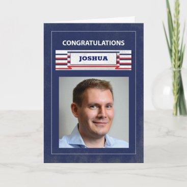 Custom Photo, Name Law Enforcement Police Graduate Card