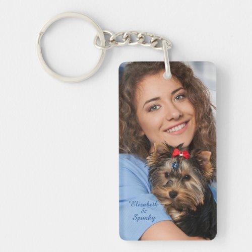 Custom Photo Name Personalize Keychain