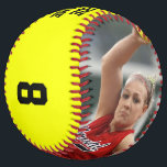 "CUSTOM Photo/Name/Team/Position/Number Softball<br><div class=""desc"">The ultimate senior gift for fastpitch softball players! Personalize it with your own custom photo, player name, team name, position and jersey number. For the photo, please use a vertical picture with the player in the center. Please feel free to type any text you want in the custom text boxes....</div>"