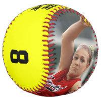 CUSTOM Photo/Name/Team/Position/Number Softball