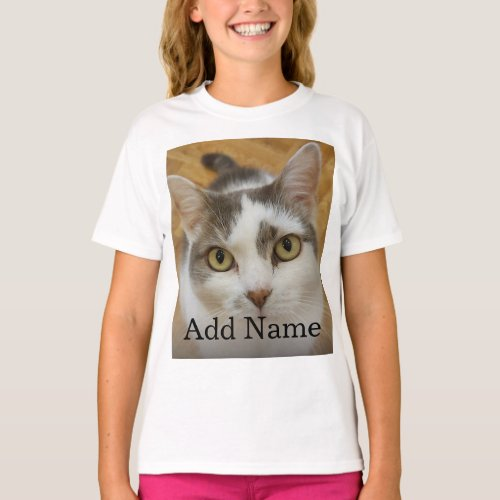 Custom Photo Name Text Personalized T_Shirt