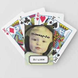 Custom Photo  Nickname Tag Playing Cards