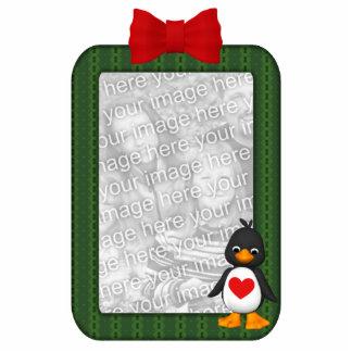Custom Photo Ornament Penguin Photo Sculptures