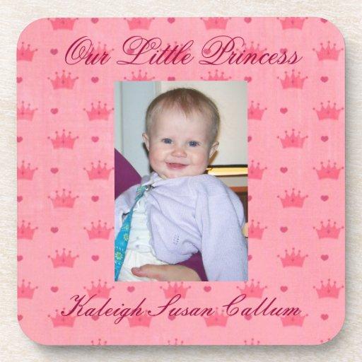 Custom Photo Our Little Princess Drink Coaster