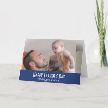 Custom Photo Personalized Father's Day Card