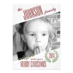 Custom Photo Personalized Holiday Christmas Card