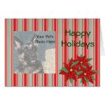 Custom Photo Pet Christmas cards