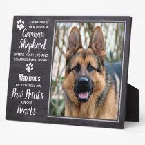 Custom Photo Pet Dog German Shepherd Memorial Plaque
