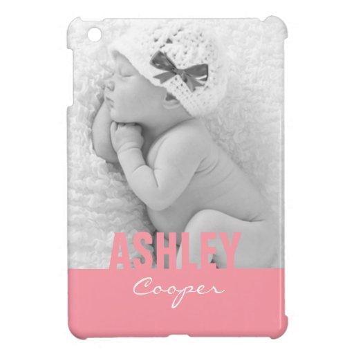 Custom Photo Pink iPad Mini Case