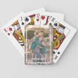 "Custom Photo Playing Cards<br><div class=""desc"">A simple photo becomes a treasured gift when used on this custom photo deck of cards. Add your photo and line of text using the template form.  Change the font or decrease its size for longer names.  Photography &#169; Storytree Studios,  Stanford,  CA</div>"