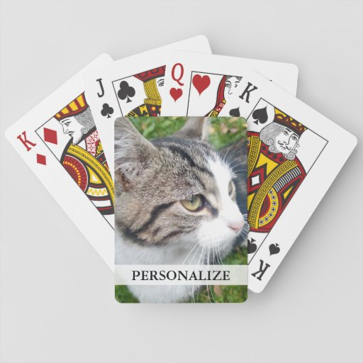 Custom photo playing cards Add your image here