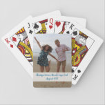 "Custom photo playing cards - celebrate fun event<br><div class=""desc"">Personalized photo playing cards - change up the photo and message!</div>"