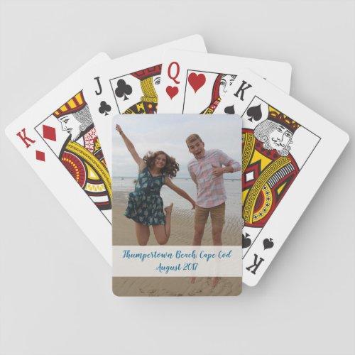 Custom photo playing cards _ celebrate fun event