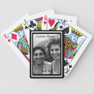 Custom Photo Playing Cards Double Black Frame