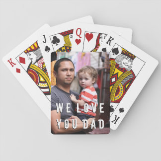 Custom Photo Playing Cards for Fathers Day