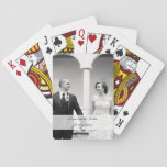 Custom photo playing cards - personalize<br><div class='desc'>Personalized photo playing cards - change up the photo and message! Great for wedding thank yous!</div>