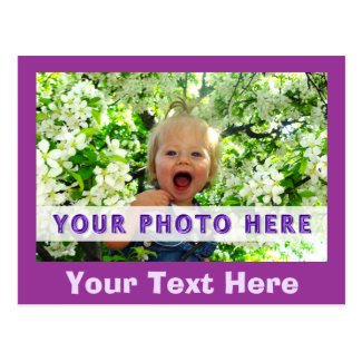 Custom Photo Postcards, Your TEXT below Picture
