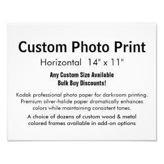 "Custom Photo Print - Horizontal 14"" x 11"""
