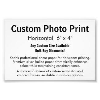 "Custom Photo Print - Horizontal 6"" x 4"""