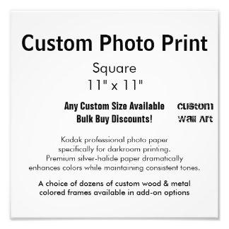 "Custom Photo Print - Square  11"" x 11"""