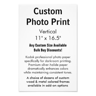 "Custom Photo Print - Vertical 11"" x 16.5"""