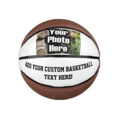 Custom Photo Printed Basketball Ball at Zazzle