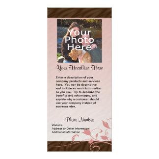Custom Photo Rack Card, Pink Swirl Rack Card
