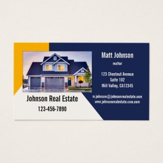 Custom Photo Real Estate Business Card